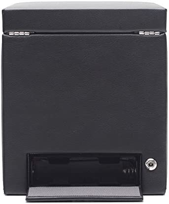 WOLF 456102 Viceroy Single Watch Winder with Cover and Storage, Black