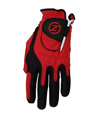 Zero Friction Men's Golf Gloves, Left Hand, One Size, Red Color: Red Size: One Size Model: ZF-ACGOGLOV-M-RD (Hardware & Tools Store)