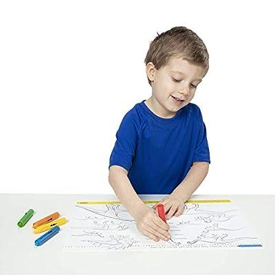 Melissa & Doug Learning Mat Crayons, 5 Colors: Melissa & Doug: Toys & Games