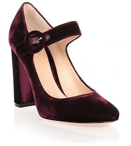 Talon Mariee Rond Bout Pompes Chaussures de Escarpins Kord Mary Janes Cheville Bride Boucle EDEFS Femme Mariage a qTBxAFpw7