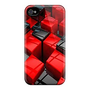 New Arrival OIw14046mKow Premium Diy For SamSung Galaxy S4 Case Cover (red And Black)