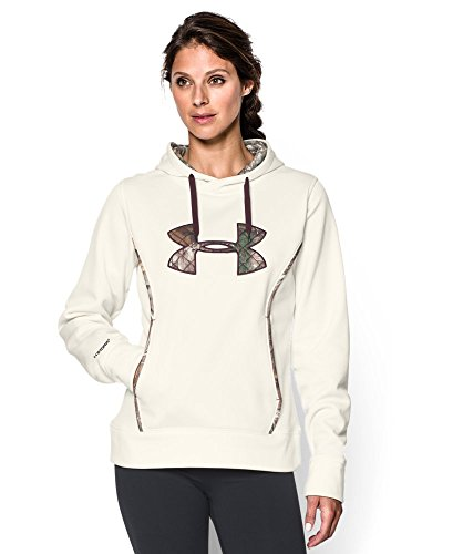 Under Armour Women's Storm Caliber Hoodie, Ivory/Realtree Ap-Xtra, Large