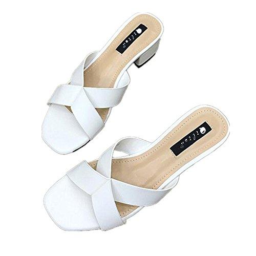 38 Femmes Size Angel EU Sandales White Color White Bas pour love beauty à Talons v0vBqwP
