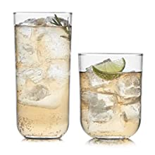 Libbey Polaris 16-Piece Tumbler and Rocks Glass Set, Axis