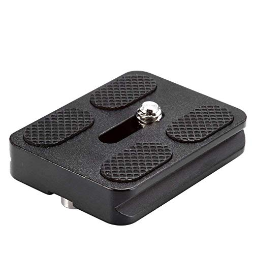 Neewer Black Metal PU-50 Universal Quick Release Plate Fits Arca-Swiss Standard for Tripod Ballhead (PU50 III)