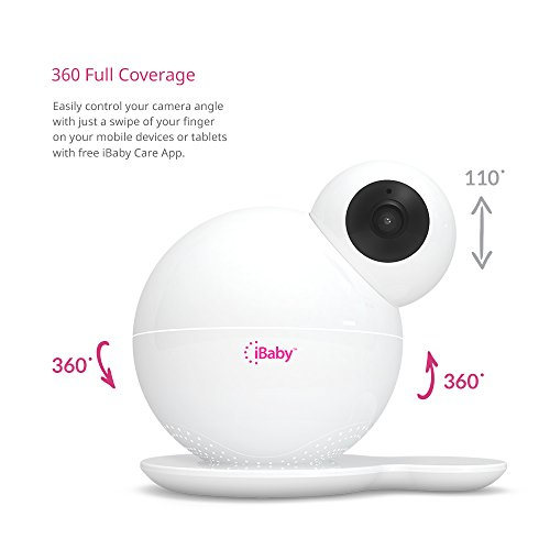 iBaby 855111003781 M6 Wireless High-Definition Baby Monitoring System White