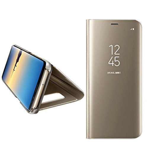 MChoice for Samsung Galaxy Note 8, Luxury Smart Window Sleep Wake up Flip Leather Stand Holder Case Cover(Gold)