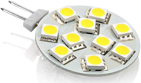 10er PACK - LED G4 12V Stiftsockel Platine - rund flach - 2,5W 140lm - Ø30mm - kaltweiß (6000-6500 K)