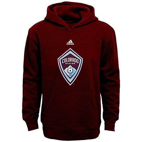 MLS Colorado Rapids Boys 8-20 Primary Logo Fleece Hoodie, Burgundy, Medium Colorado Youth Fleece Pullover
