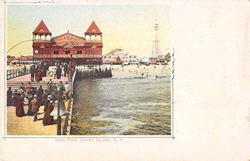 Coney Island New York Iron Pier Beardsleys Codfish Advertising Postcard JB627040