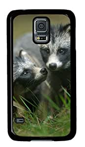 Baby Raccoon 005 Samsung Galaxy S5 Hard Shell with Black Edges Cover Case by Lilyshouse