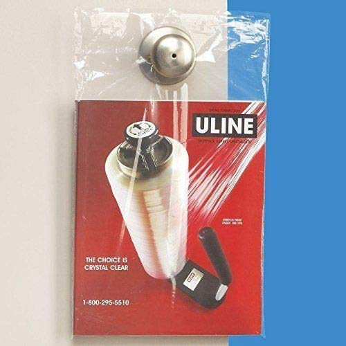 200 Clear 9 x 14 Door KNOB Hanger Poly Bags for Flyers ULINE Best 1.5 MIL