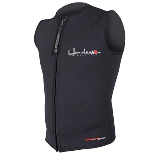 Henderson Men's Premium 3MM Thermoprene Zippered Vest, Black, XL - Diving by Henderson