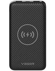 باور بانك لاسلكي من فيجير، بقوة 20000 مل امبير في الساعة، لهواتف ايفون اكس وايفون 8 / 8 بلس وسامسونج نوت 8 واس 8 / اس 8 بلس، واس 7 / اس 7 ايدج