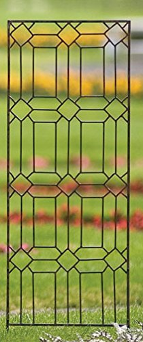 H Potter Diamond Trellis Wrought Iron Weather Resistant Outdoor Wall Decor (Large)
