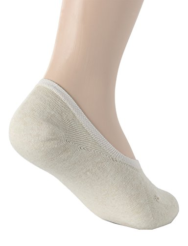 OSABASA Womens Casual No-Show 3Pairs Socks of Various Pastel Colors BEIGE M (SET3KWMS058) by OSABASA (Image #4)