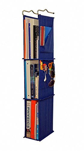 Locker Ladder Locker Organizer Hanging Shelves, Sewn and Assembled in USA (Blue).