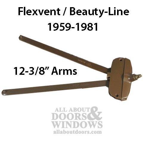 Andersen awning window Operator, Flexivent, Beauty-Line 12-3/8 Short Arm - Bronze