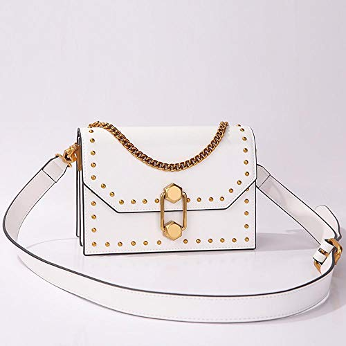 Single Shoulder Hongge Leather Small Messenger Fashion C Hundred Lock Side Women Bag Chain rxqqnUw0YP