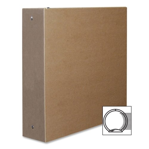 Aurora 2-Inch Capacity Three Ring Brown Kraft Recycled Binder (10272)