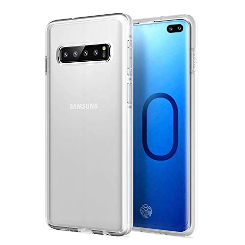 Galaxy S10 Plus Case Huness 2MM Thicken Premium Clarity and Scratch Resistant Case Cover Only Compatible Samsung Galaxy S10 Plus/S10+ Phone (Crystal Clear)