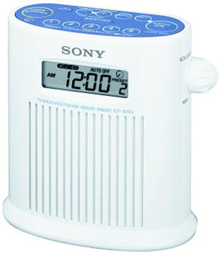 Discontinued by Manufacturer Sony ICF-S79V Weather Band Shower Radio