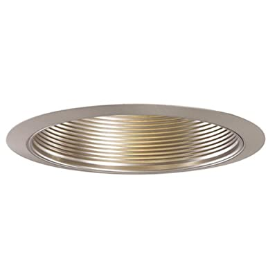 Halo Recessed 353SN-6PK Trim Metal Baffle Satin Nickel Trim with Satin Nickel Baffle