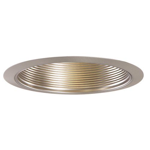 Halo 353SN, 6'' Trim Metal Baffle Satin Nickel Trim with Satin Nickel Baffle