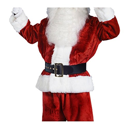 Warrior Elf Sexy Costumes - GSG Santa Costume Adult Imperial Crimson Suit Christmas Fancy Dress