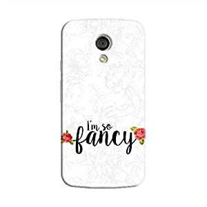 Cover It Up I m So Fancy Flower Hard Case For Moto G2 - Multi Color