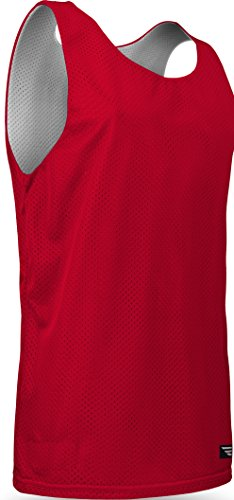 - AP993Y Youth Boys and Girls Tank Top Jersey-Reversible to White-Great for Basketball, Soccer, Pee Wee, Scrimmage, and Practice-Available in Black, Navy, Royal Blue, and Red (Youth Large, Red/White)