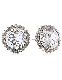 Sorrelli Decorative Edge Petite Antique Silver-Tone Stud Earrings