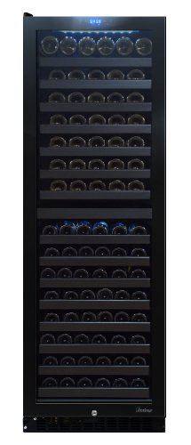 Vinotemp 142-Bottle Dual-Zone Touch Screen Wine Cooler, Left Hinge