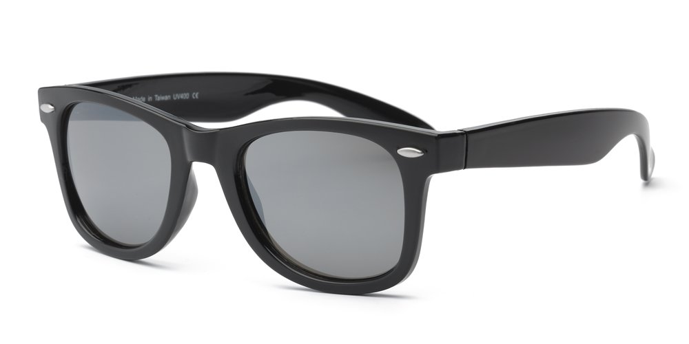 Real Shades Swag Sunglasses for Adults - 100% UVA UVB Protection, Polycarbonate Mirror Lenses, Unbreakable, Iconic 80s Style (Black, Silver Mirror Lens)
