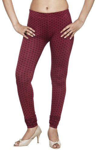Rangmanch Womens Indian Ethnic Viscose Monotone Leggings Pants Bottomwear Maroon Medium by Rangmanch