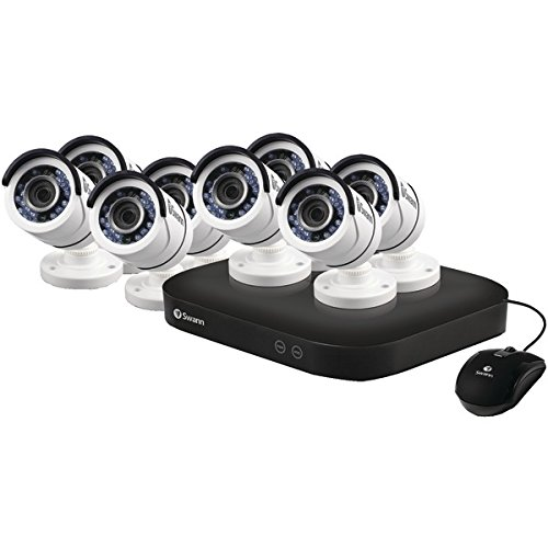 Swann SWDVK-8HD5MP8-US 8 Channel 5MP Security System Kit with 2TB DVR Digital Video Recorder & 8x 5MP Surveillance Bullet Cameras