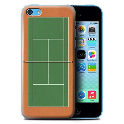 Coque de Stuff4 / Coque pour Apple iPhone 5C / Terre Battue Verte Design / Courts de Tennis Collection