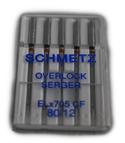 Schmetz Sewing Machine Chrome Finish Needle ELX705CF-80