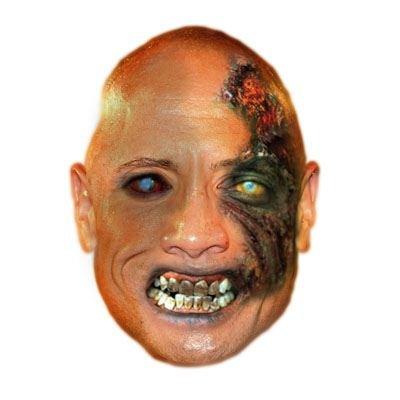 Celebrity Cutouts Zombie Dwayne Johnson Mask, Halloween, Fancy Dress, Party -