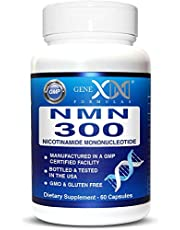NMN Stabilized Form 300mg Serving Nicotinamide Mononucleotide Direct NAD+ Supplement More Stable Than Riboside Works Best When Paired with Resveratrol (2X 150mg Capsules 60ct).