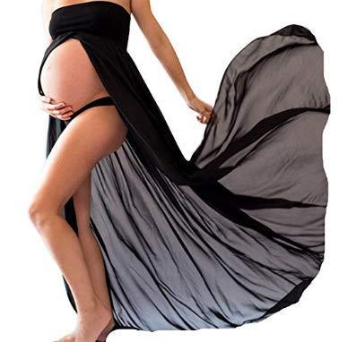 Falda larga para mujer embarazada sexy con aberturas en la parte ...