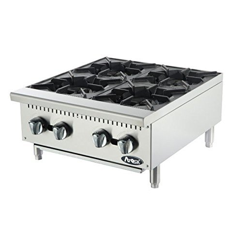 Atosa USA ATHP-24-4 Heavy Duty Stainless Steel 24-Inch Four Burner Hotplate - Propane (Hot Plates For Cooking Gas compare prices)