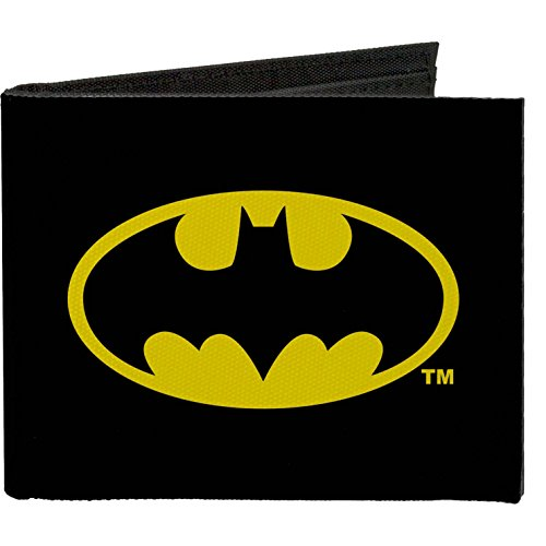 Buckle-Down Canvas Bi-fold Wallet - Batman Black/yellow Accessory at Gotham City Store