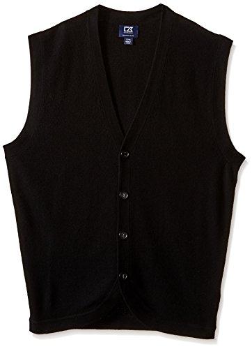 Cutter & Buck Men's Tall Bosque Vest, Black, - Lightweight Buck & Cutter Vest