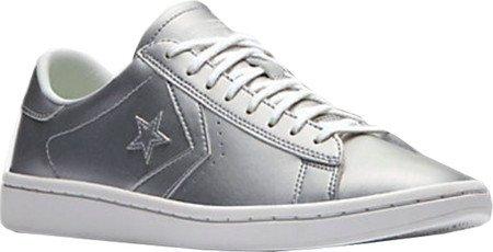 Zapatillas Converse Pro Leather Metallic Silver Plateado