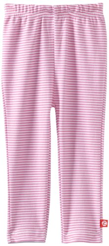 (Zutano Baby-Girls Infant Candy Stripe Skinny Legging, Hot Pink, 12 Months)