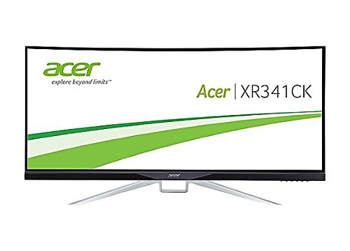 Acer Curved 34-inch UltraWide QHD (3440 x 1440) Display with 21:9 Aspect Ratio (XR341CK bmijpphz)