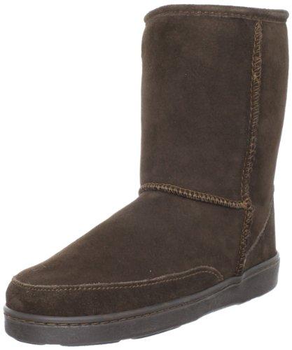Minnetonka 3578 Short Sheepskin Pug Boot, Damen Stiefel Braun (Chocolate)