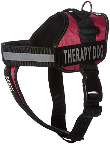 Dogline Vest Harness for Dogs and 2 Removable Therapy Dog Patches, Large/28