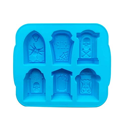 Kingkun Silicone Ice Cube Trays Halloween Gravestone Mold with Lid for Ice, Candy, Cake, Soap ()